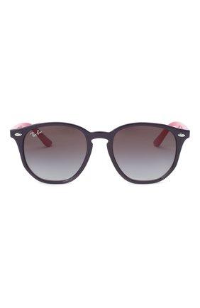Детские солнцезащитные очки RAY-BAN фиолетового цвета, арт. 9070S-70218G | Фото 2