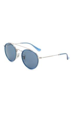 Детские солнцезащитные очки RAY-BAN голубого цвета, арт. 9647S-212/80 | Фото 1