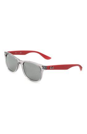 Детские солнцезащитные очки RAY-BAN серого цвета, арт. 9052S-70636G | Фото 1