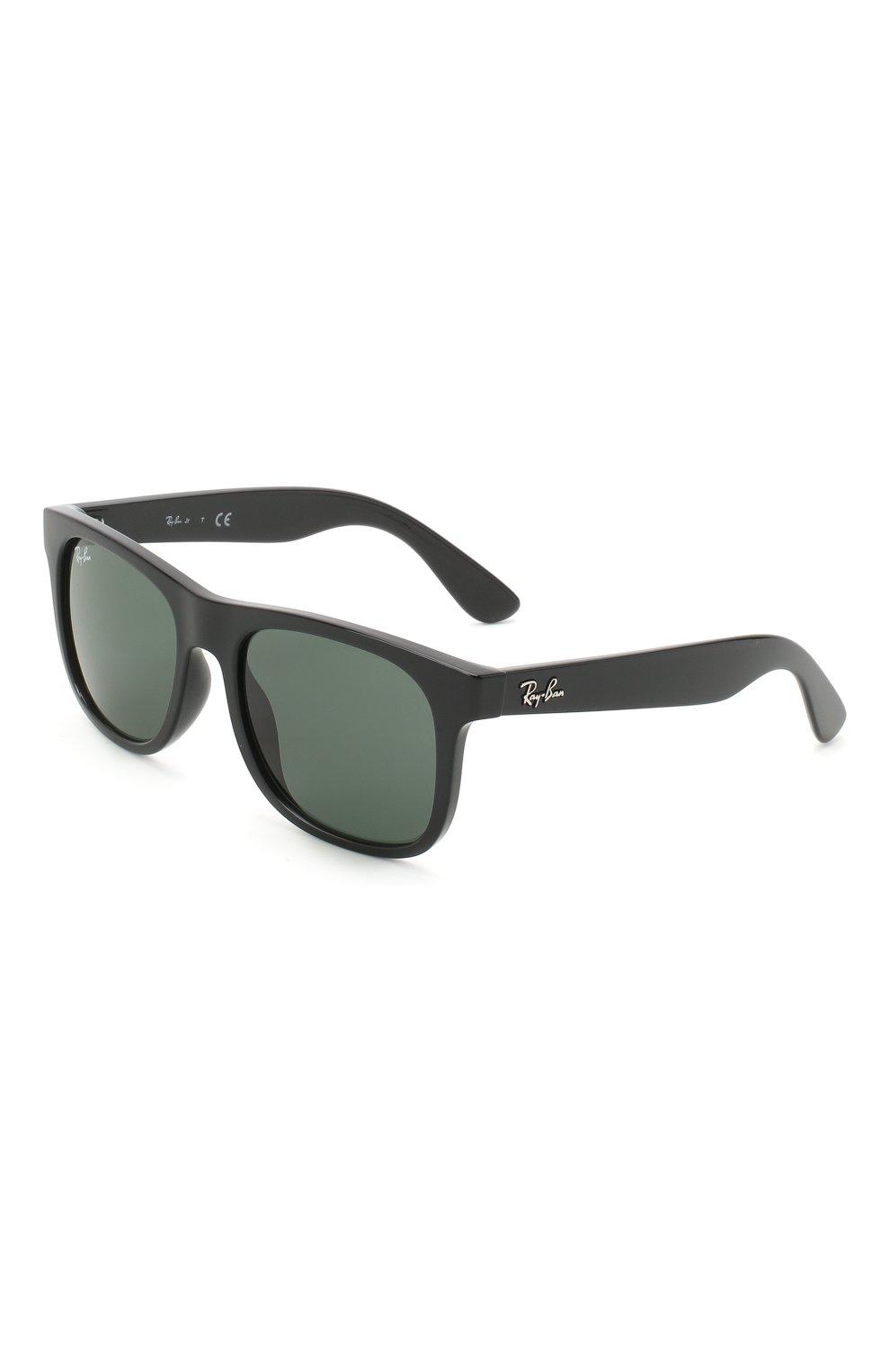 Детские солнцезащитные очки RAY-BAN черного цвета, арт. 9069S-100/71   Фото 1