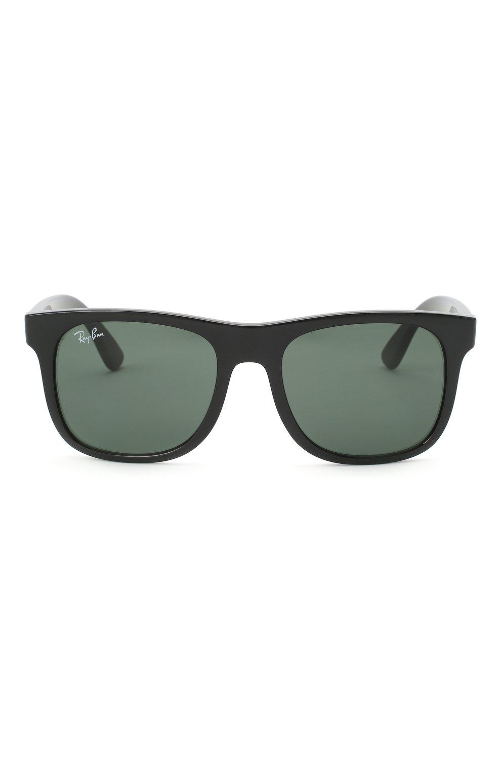 Детские солнцезащитные очки RAY-BAN черного цвета, арт. 9069S-100/71   Фото 2
