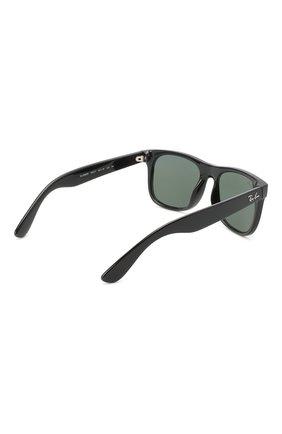 Детские солнцезащитные очки RAY-BAN черного цвета, арт. 9069S-100/71   Фото 3