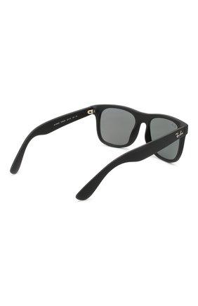 Детские солнцезащитные очки RAY-BAN черного цвета, арт. 9069S-702855 | Фото 3