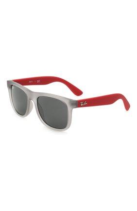 Детские солнцезащитные очки RAY-BAN серого цвета, арт. 9069S-705987 | Фото 1