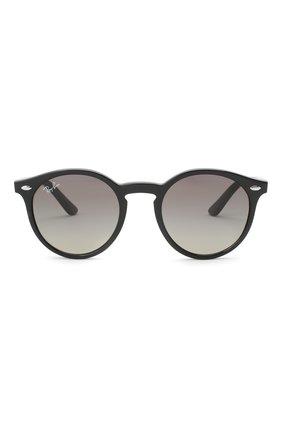 Детские солнцезащитные очки RAY-BAN черного цвета, арт. 9064S-100/11 | Фото 2