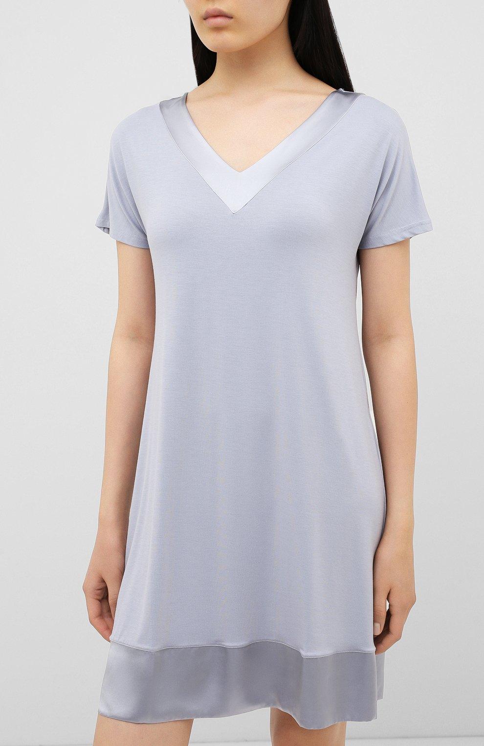 Женская сорочка FRETTE серого цвета, арт. 20100113 00F 00619 | Фото 3