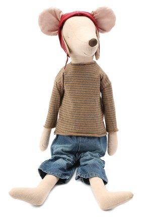 Детского игрушка мышонок гонщик мега MAILEG бежевого цвета, арт. 16-7741-00   Фото 1