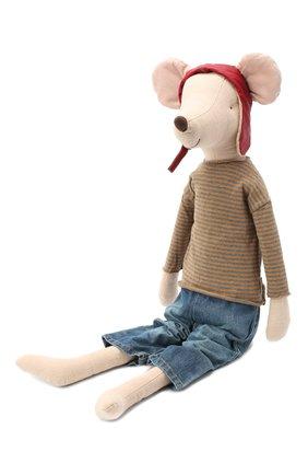 Детского игрушка мышонок гонщик мега MAILEG бежевого цвета, арт. 16-7741-00   Фото 2