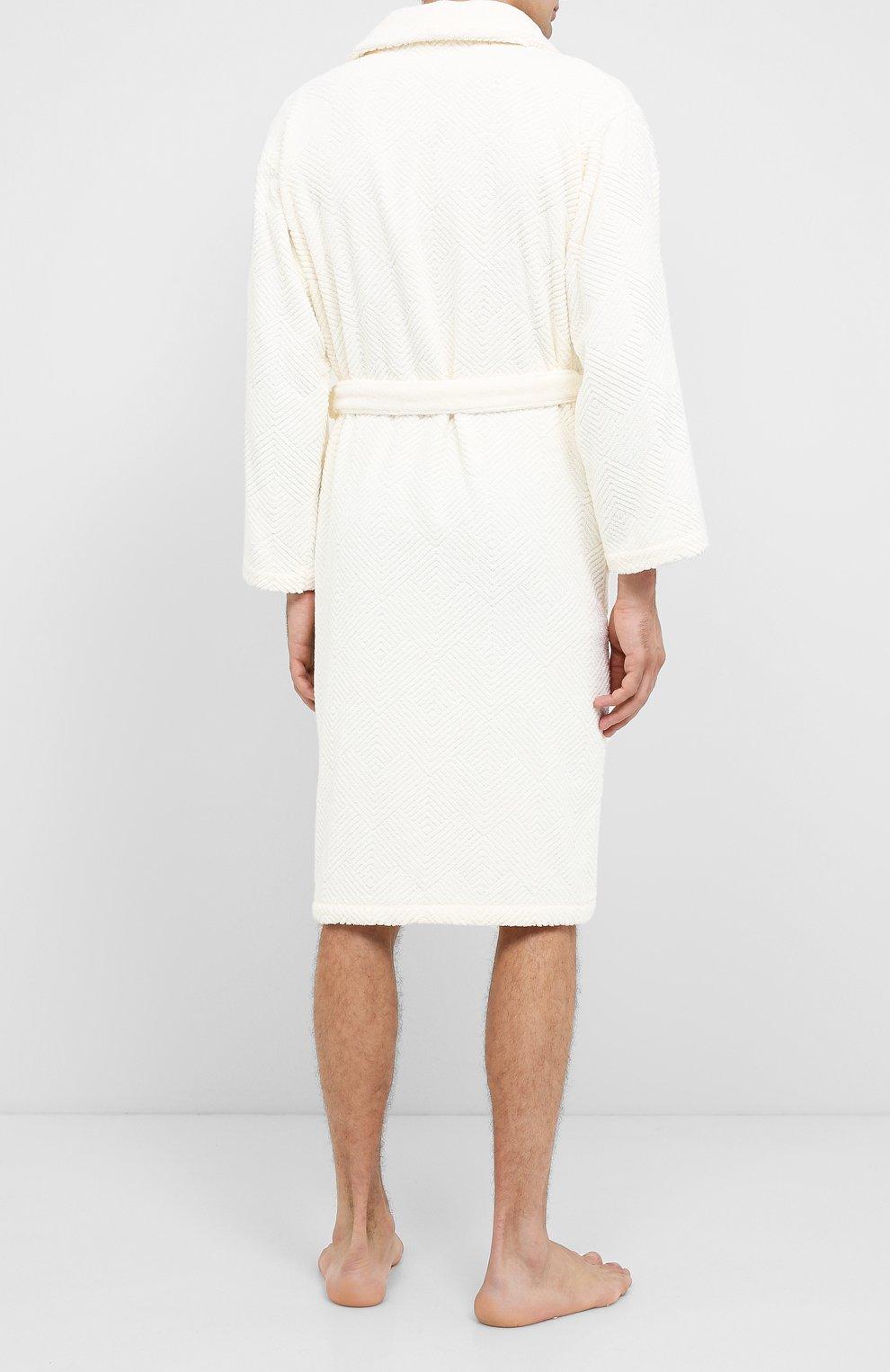 Мужской хлопковый халат FRETTE бежевого цвета, арт. FR6243 D2060 G02M   Фото 4