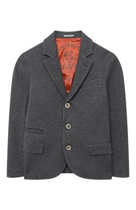 Детский костюм из пиджака и шорт BRUNELLO CUCINELLI серого цвета, арт. BD847A103A | Фото 2