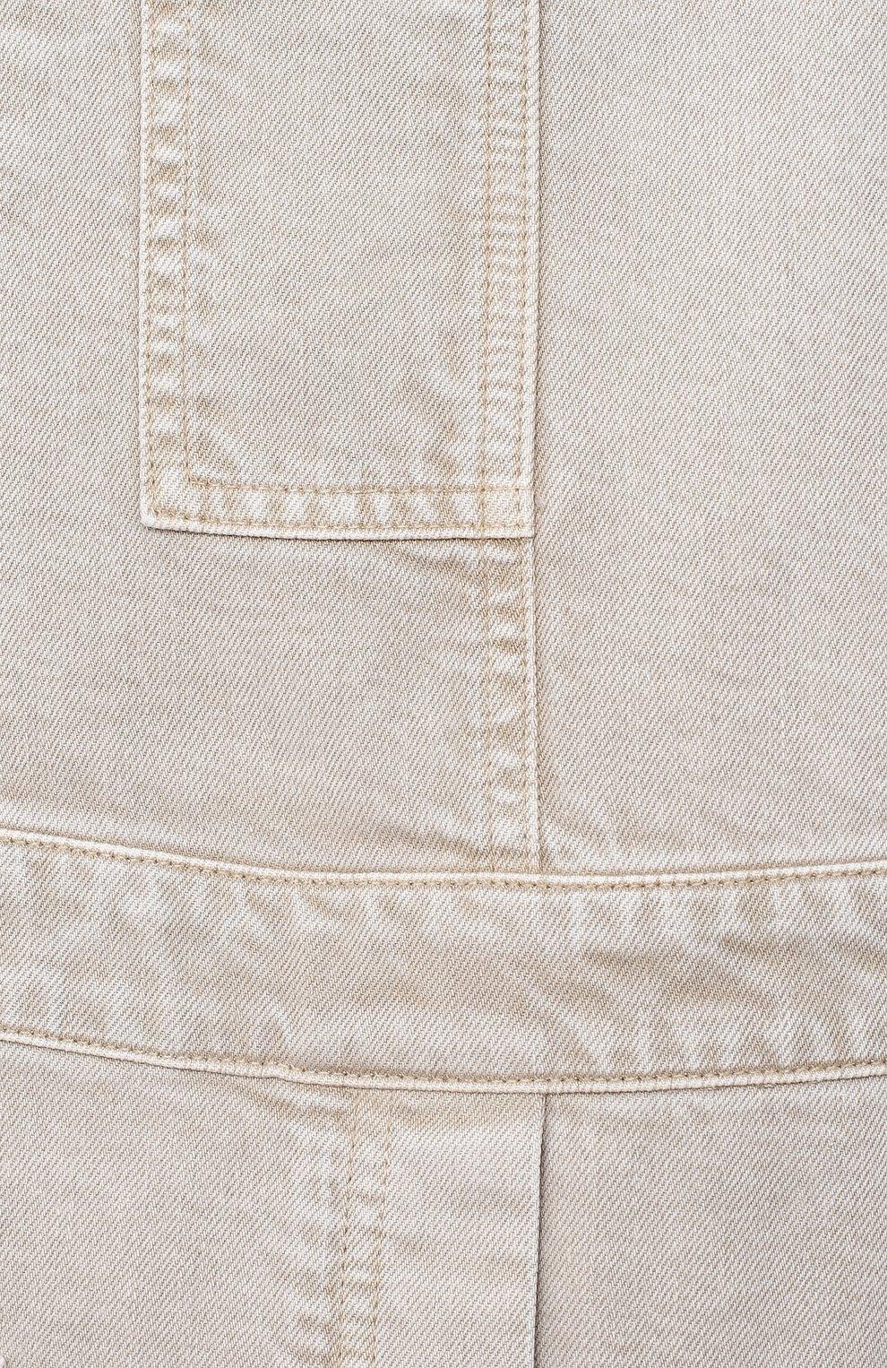 Детский хлопковый комбинезон BRUNELLO CUCINELLI бежевого цвета, арт. BH43MQ200B   Фото 3