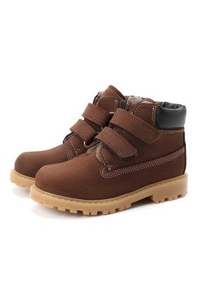 Детские кожаные ботинки RONDINELLA коричневого цвета, арт. 11201I/634/24-27 | Фото 1