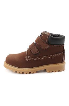 Детские кожаные ботинки RONDINELLA коричневого цвета, арт. 11201I/634/24-27 | Фото 2