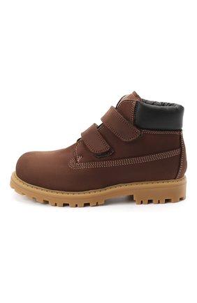 Детские кожаные ботинки RONDINELLA коричневого цвета, арт. 11201I/634/28-30 | Фото 2