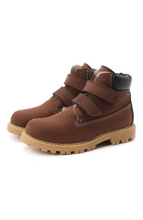 Детские кожаные ботинки RONDINELLA коричневого цвета, арт. 11201I/634/31-33 | Фото 1