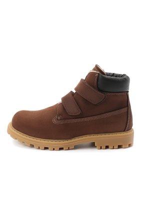 Детские кожаные ботинки RONDINELLA коричневого цвета, арт. 11201I/634/31-33 | Фото 2