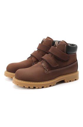 Детские кожаные ботинки RONDINELLA коричневого цвета, арт. 11201I/634/34-36 | Фото 1