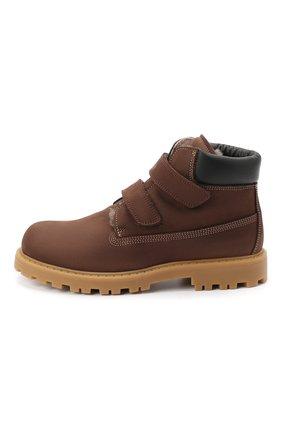 Детские кожаные ботинки RONDINELLA коричневого цвета, арт. 11201I/634/34-36 | Фото 2