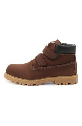 Детские кожаные ботинки RONDINELLA коричневого цвета, арт. 11201I/634/37-39 | Фото 2