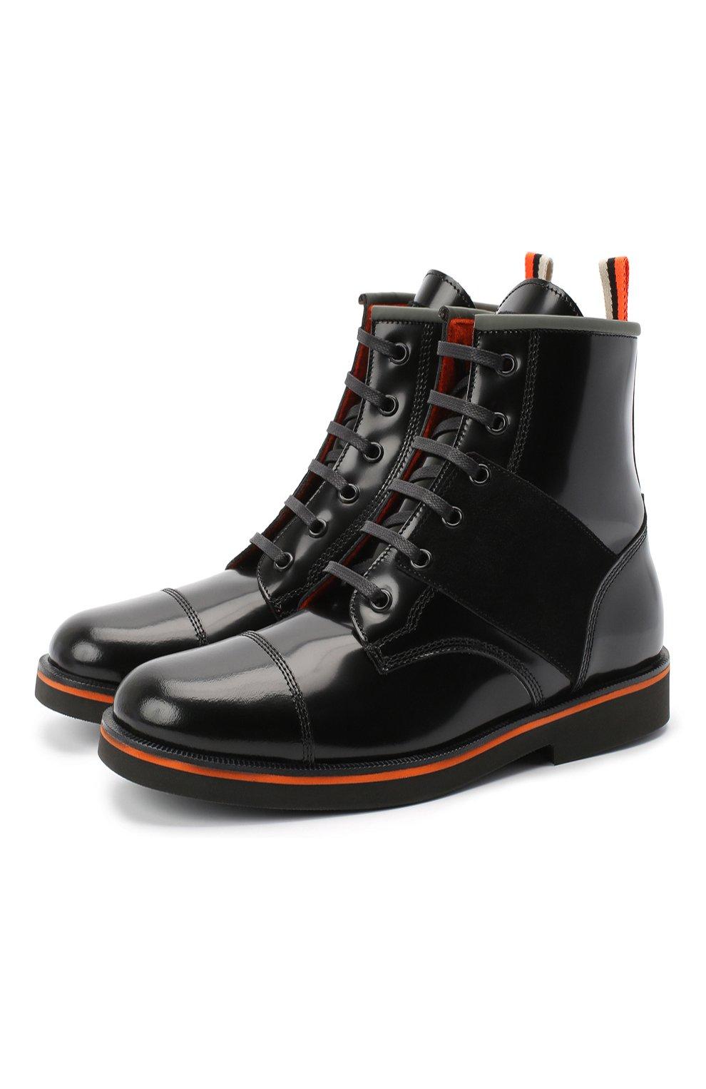 Детские кожаные ботинки RONDINELLA черного цвета, арт. 11604F/5974/28-30 | Фото 1