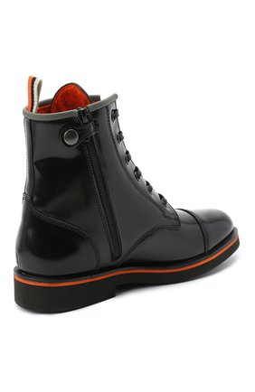 Детские кожаные ботинки RONDINELLA черного цвета, арт. 11604F/5974/28-30 | Фото 3