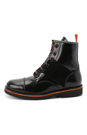 Детские кожаные ботинки RONDINELLA черного цвета, арт. 11604F/5974/31-33 | Фото 2
