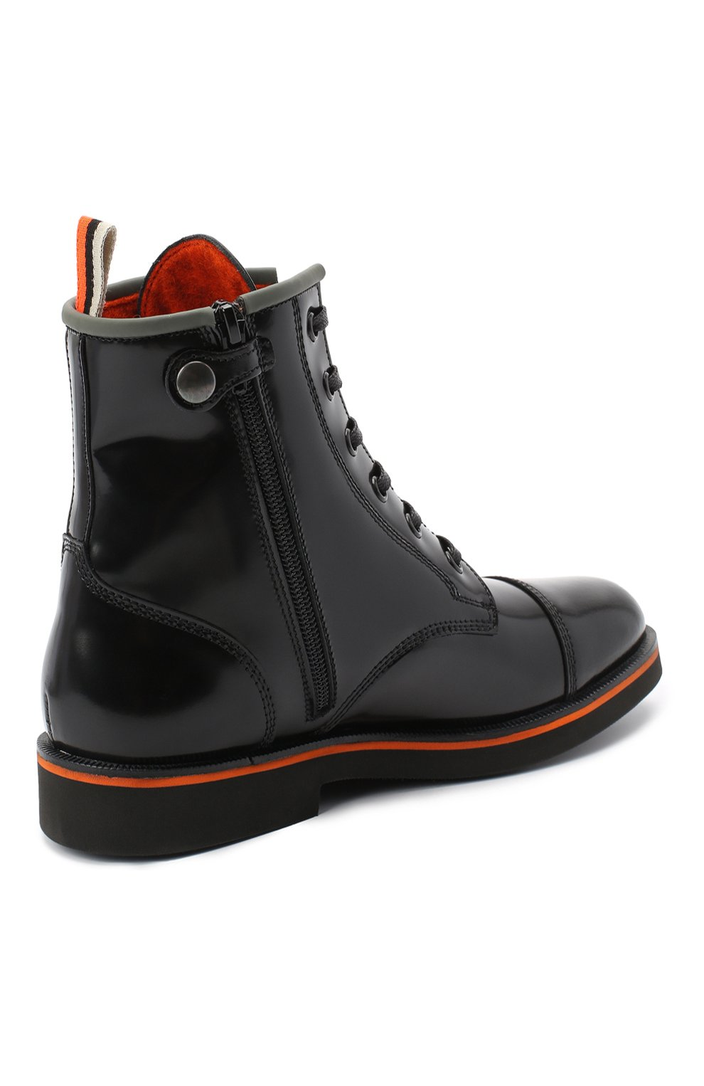 Детские кожаные ботинки RONDINELLA черного цвета, арт. 11604F/5974/31-33 | Фото 3