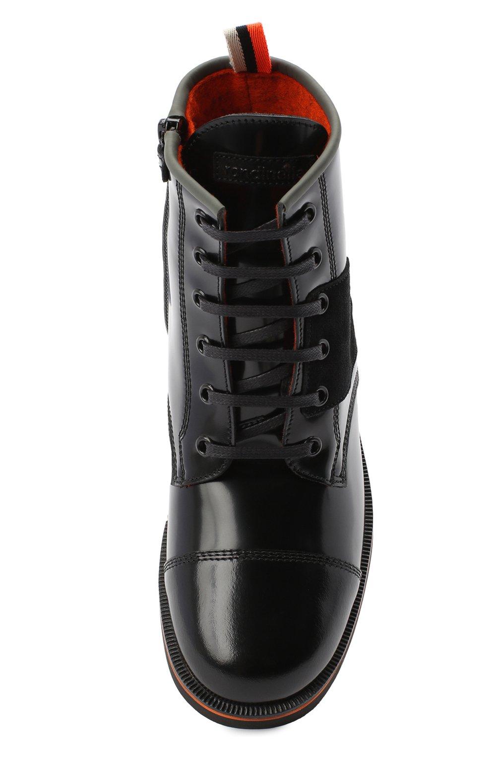 Детские кожаные ботинки RONDINELLA черного цвета, арт. 11604F/5974/31-33 | Фото 4
