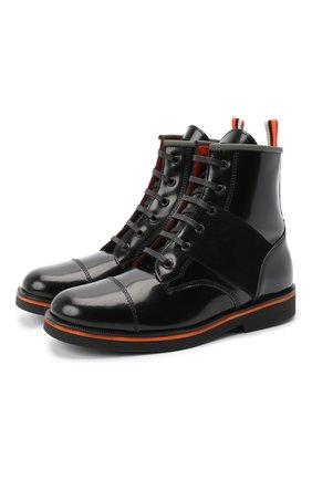 Детские кожаные ботинки RONDINELLA черного цвета, арт. 11604F/5974/37-39 | Фото 1