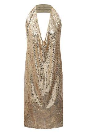 Женское платье из вискозы BOTTEGA VENETA золотого цвета, арт. 620392/VKSI0 | Фото 1