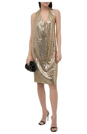 Женское платье из вискозы BOTTEGA VENETA золотого цвета, арт. 620392/VKSI0 | Фото 2