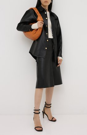 Женские кожаные босоножки BOTTEGA VENETA коричневого цвета, арт. 618748/VBSD0 | Фото 2
