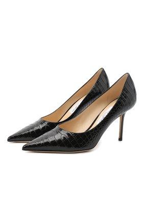 Женская кожаные туфли love 85 JIMMY CHOO черного цвета, арт. L0VE 85/CCL | Фото 1