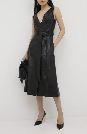 Женская кожаные туфли love 85 JIMMY CHOO черного цвета, арт. L0VE 85/CCL | Фото 2
