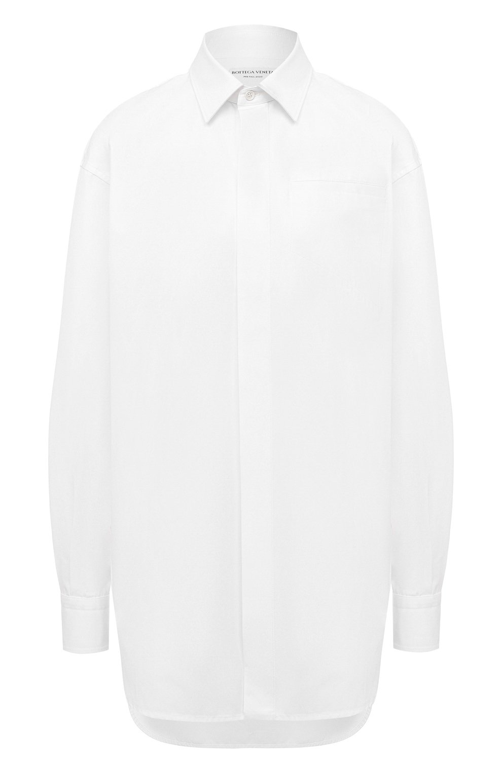 Женская хлопковая рубашка BOTTEGA VENETA белого цвета, арт. 629735/VKEC0 | Фото 1