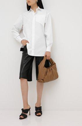 Женская хлопковая рубашка BOTTEGA VENETA белого цвета, арт. 629735/VKEC0 | Фото 2