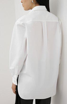 Женская хлопковая рубашка BOTTEGA VENETA белого цвета, арт. 629735/VKEC0 | Фото 4