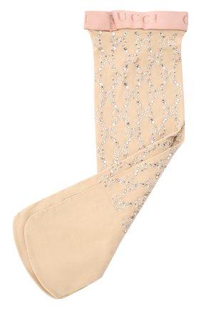 Женские носки GUCCI бежевого цвета, арт. 615538/3G354 | Фото 1