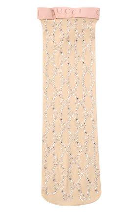 Женские носки GUCCI бежевого цвета, арт. 615538/3G354 | Фото 2
