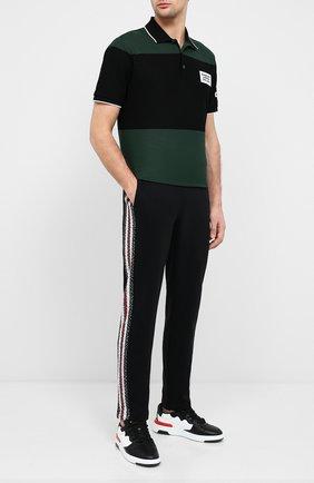 Мужской хлопковые брюки BURBERRY черного цвета, арт. 8026941   Фото 2