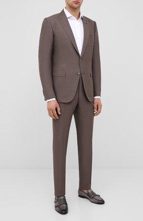 Мужские кожаные монки SANTONI серого цвета, арт. MCNC16848SA3SNEBG56/AMIS | Фото 2