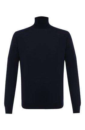 Мужской шерстяная водолазка LANVIN темно-синего цвета, арт. RM-P00017-MV04-A20   Фото 1