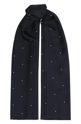 Мужской шелковый шарф LORO PIANA темно-синего цвета, арт. FAL1461 | Фото 1