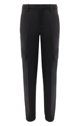 Мужской брюки-карго NEIL BARRETT черного цвета, арт. PBPA793/P026 | Фото 1