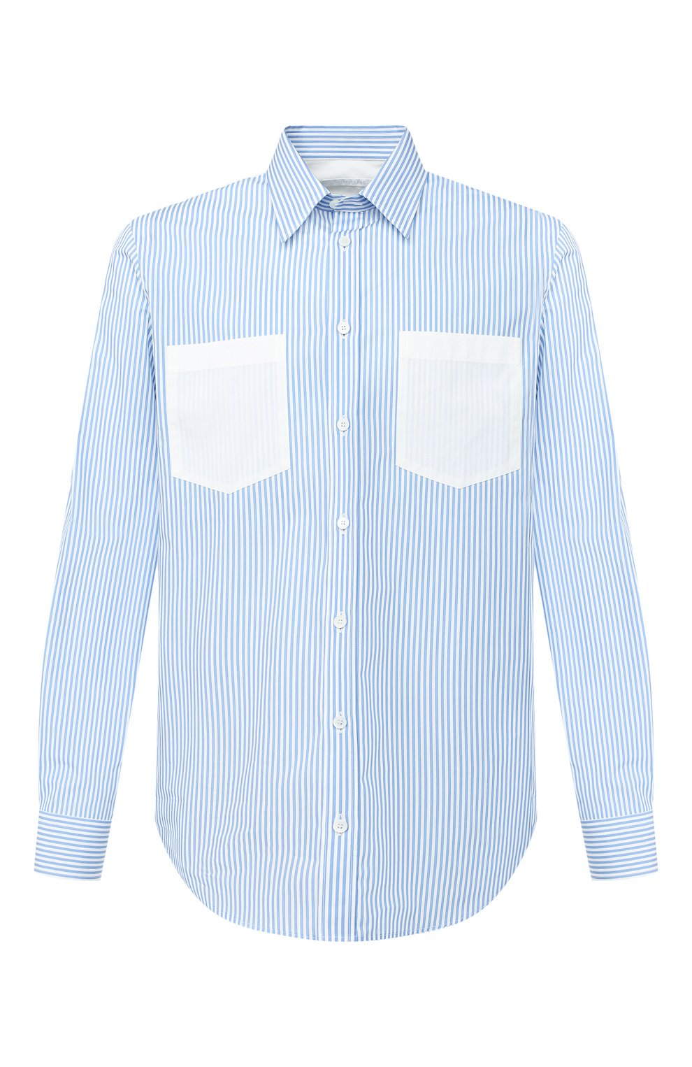 Мужская хлопковая рубашка HELMUT LANG белого цвета, арт. K04HM508 | Фото 1