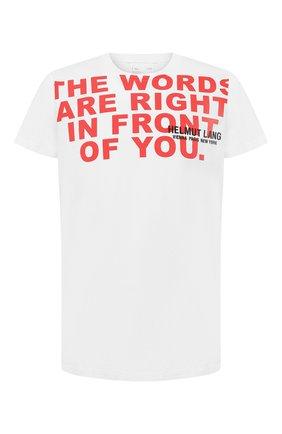 Мужская хлопковая футболка HELMUT LANG белого цвета, арт. K05DM527 | Фото 1