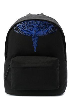 Мужской текстильный рюкзак MARCELO BURLON черного цвета, арт. CMNB006E20FAB002 | Фото 1