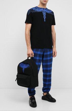 Мужской текстильный рюкзак MARCELO BURLON черного цвета, арт. CMNB006E20FAB002 | Фото 2