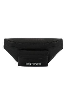 Мужская текстильная поясная сумка MARCELO BURLON черного цвета, арт. CMNA041E20FAB001   Фото 1