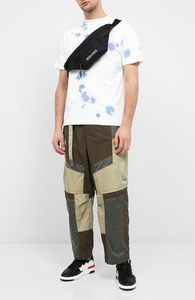 Мужская текстильная поясная сумка MARCELO BURLON черного цвета, арт. CMNA041E20FAB001   Фото 2